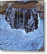 Little Frozen Waterfall Metal Print