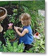 Little Gardener Metal Print