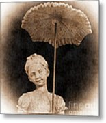 Little Girl With Umbrella Metal Print