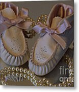 Little Girls To Pearls Metal Print