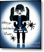 Little Goth Girl Spook-tacular Metal Print