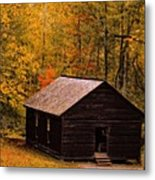 Little Greenbrier Schoolhouse In Autumn  Metal Print