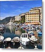 little harbor in Camogli Metal Print