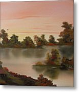 Little Haven At Sunset Metal Print