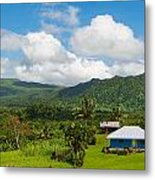 Little House Beneath The Hills Metal Print