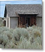 Little House In The Sage Metal Print