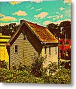 Little House - The World Around New York City Metal Print