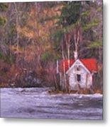 Little House On The Lake Metal Print