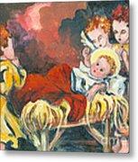 Little Jesus And The Angels Metal Print by Elisabeta Hermann