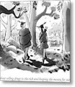 Little John And Robin Hood Walk Metal Print