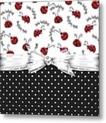 Little Ladybugs Metal Print