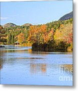 Little Long Pond And Bubbles Mount Desert Island Maine Metal Print