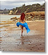 Little Mermaid On Land Metal Print