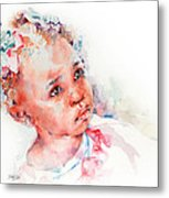 Little Miss Africa Metal Print