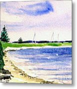 Watch Hill Cove Metal Print by Joan Hartenstein