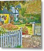 Little Newton Cottage Metal Print