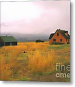 Little Pink House In The Tetons Metal Print