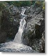 Little Qualicum River Falls Vancouver Island Bc Metal Print