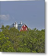 Little Red Barn In The Vale Metal Print