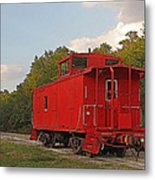 Little Red Caboose Metal Print