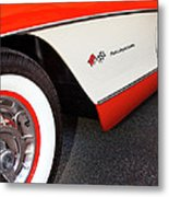 Little Red Corvette Palm Springs Metal Print