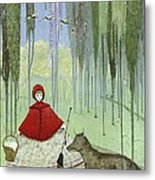 Little Red Riding Hood, Artwork Metal Print