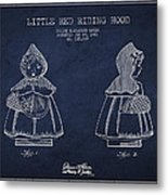 Little Red Riding Hood Patent Drawing From 1943 Metal Print by Aged Pixel