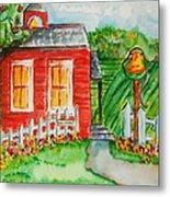 Little Red Schoolhouse Metal Print
