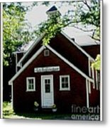 Little Red Schoolhouse Metal Print by Gail Matthews