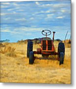 Little Red Tractor 4 Metal Print