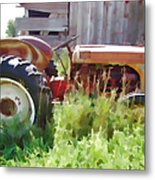 Little Red Tractor Metal Print