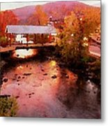 Little River Bridge At Sunset Gatlinburg Metal Print