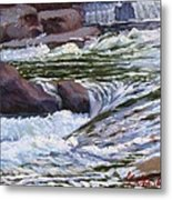 Little River Falls Metal Print