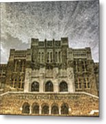Little Rock Central High Reflecting Upon The Past Metal Print by Jason Politte