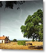 Little Rural House Metal Print