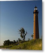 Little Sable Lighthouse By Silver Lake Michigan No.557 Metal Print