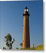 Little Sable Lighthouse On The Dune By Silver Lake Michigan No.560 Metal Print