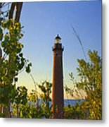 Little Sable Lighthouse Seen Through The Trees Metal Print
