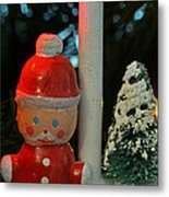Little Santa Metal Print