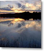Little Silver Lake Sunset Metal Print
