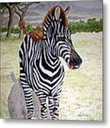 Little Stripes Metal Print