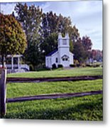Little Village Chapel Of The Immanuel Lutheran Church Metal Print
