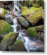 Little Waterfall In Marlay Park Metal Print