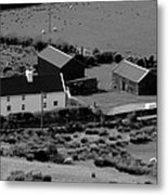 Little White Cottage  Metal Print