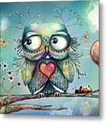 Little Wood Owl Metal Print by Karin Taylor