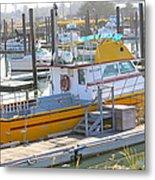 Little Yellow Boat Metal Print by Lisa Billingsley