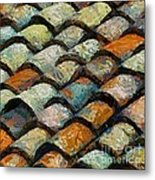 Littoral Roof Tiles Metal Print