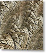 Litz Wire Abstract Metal Print