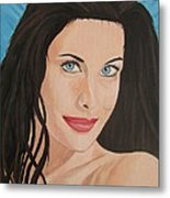 Liv Tyler Painting Portrait Metal Print