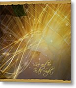 Live And Be In The Light Metal Print